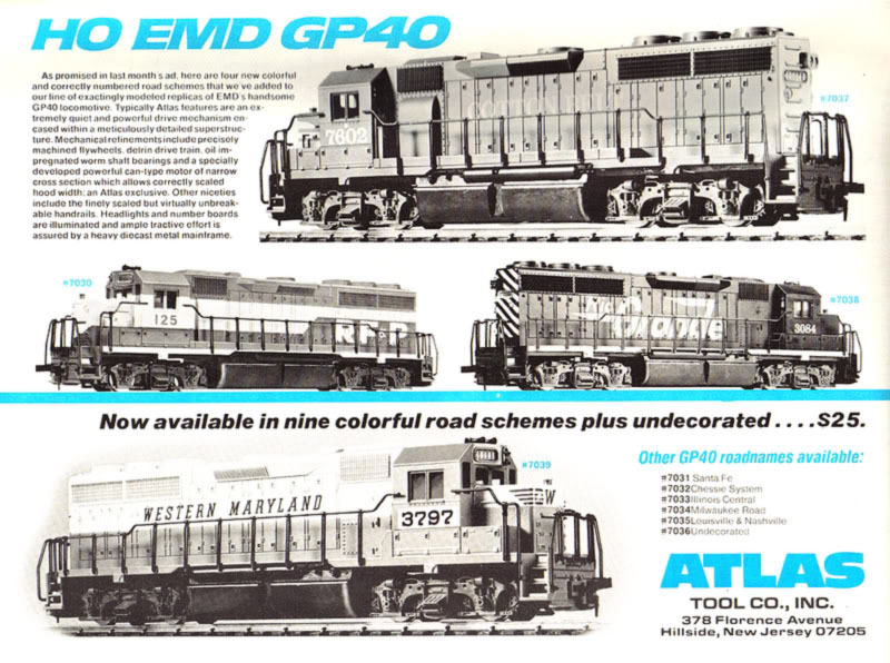 Atlas EMD GP40 - HO-Scale Trains Resource