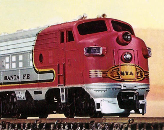 Bachmann's F9 Diesel A Unit and Four Cars