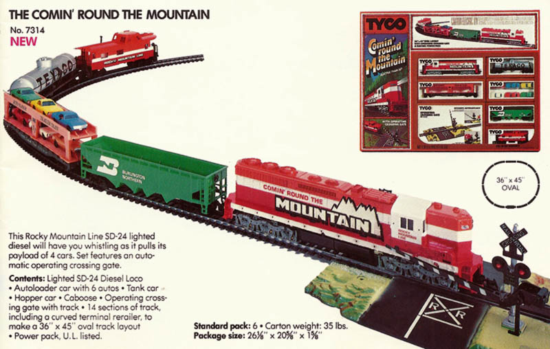 TYCO Comin' Round The Mountain Train Set - HO-Scale Trains Resource