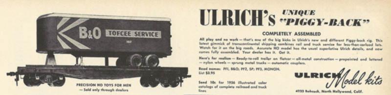 Ulrich Trailer-On-Flatcar